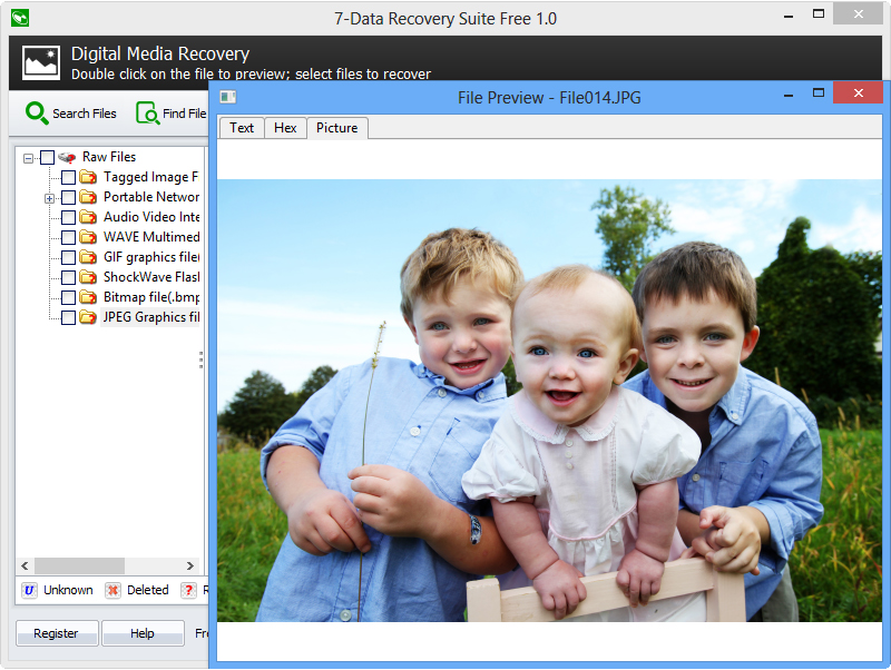 7-Data Recovery Suite, Recovery Software Screenshot