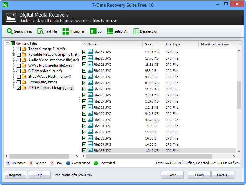 7-Data Recovery Suite, Software Utilities Screenshot