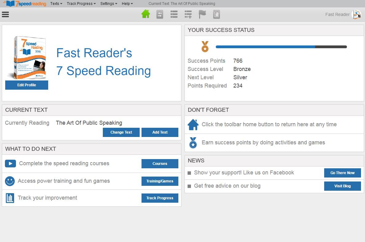7 Speed Reading Screenshot
