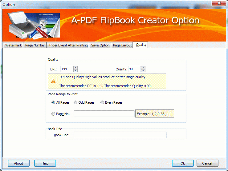 A-PDF FlipBook Creator (Flip Printer) Screenshot