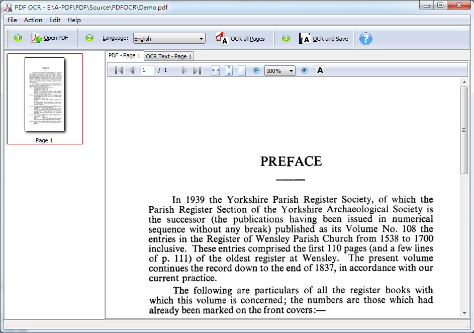 A-PDF OCR Screenshot