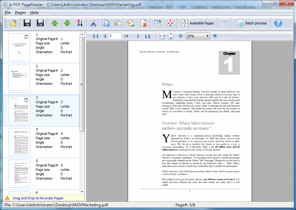 A-PDF Page Master Screenshot