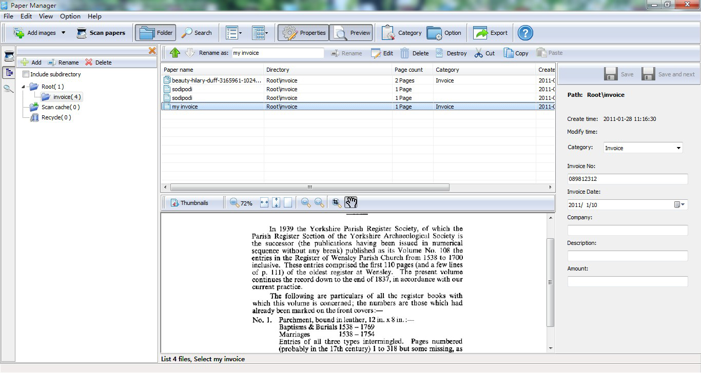 A-PDF Paper Manager Lite Screenshot