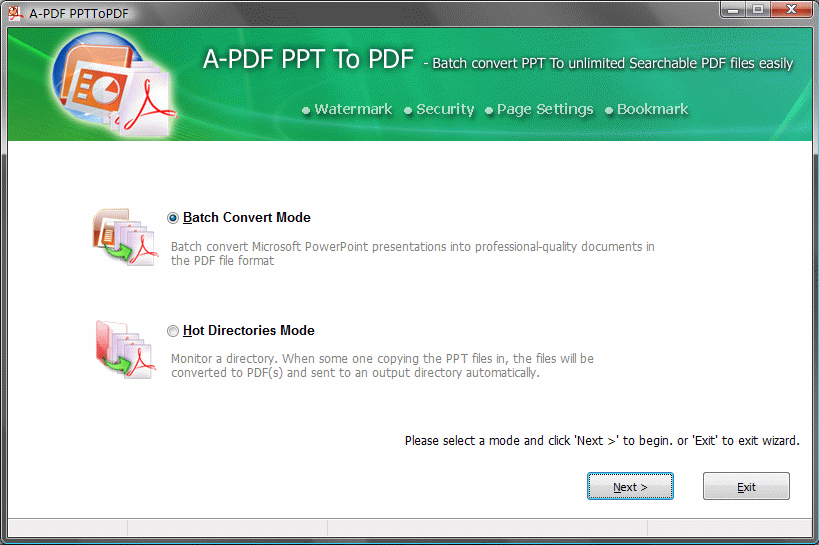 A-PDF PPT to PDF Screenshot