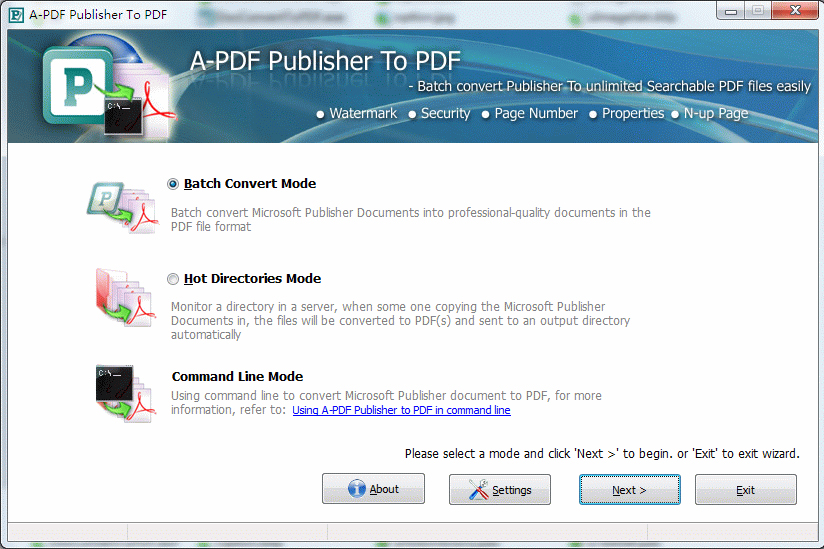 A-PDF Publisher to PDF Screenshot