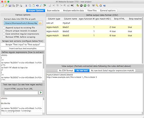 A1 Website Scraper 9.x Screenshot