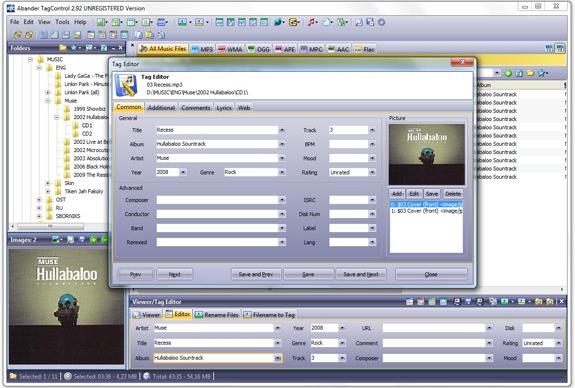 MP3 Tag Editing Software Screenshot