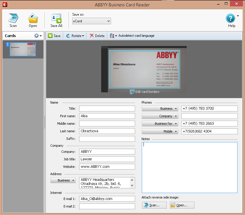 Business & Finance Software, ABBYY FineReader 12 Professional Screenshot
