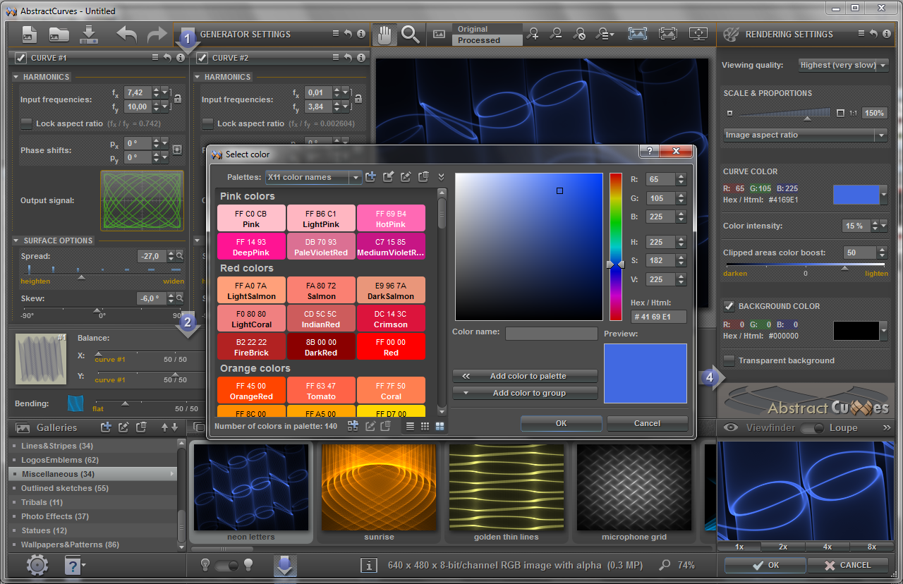 AbstractCurves Graphic Design Software off for PC