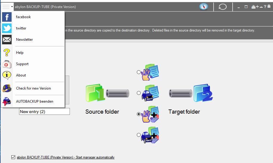 abylon BACKUP-TUBE, Backup Files Software Screenshot