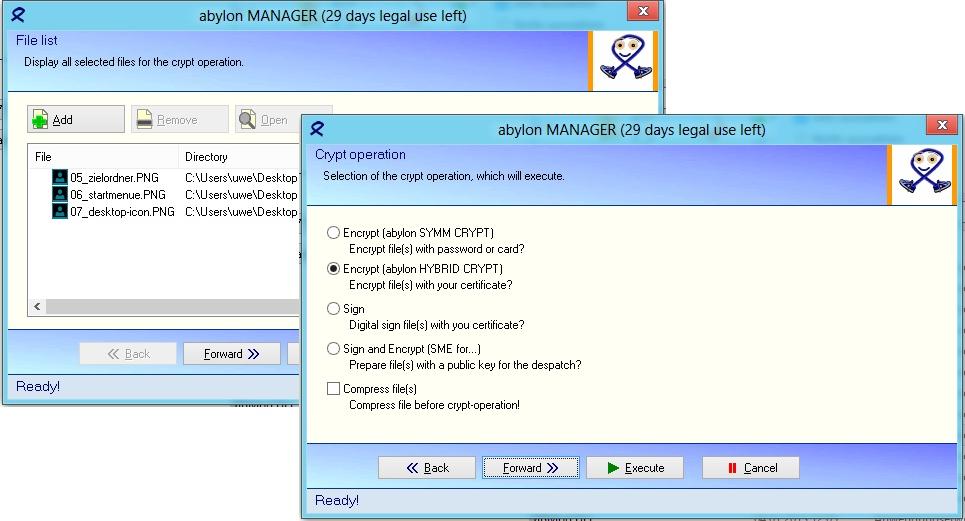 abylon BASIC, Access Restriction Software Screenshot