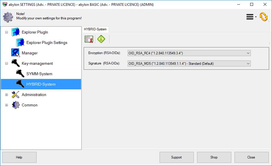 Security Software, abylon BASIC Screenshot