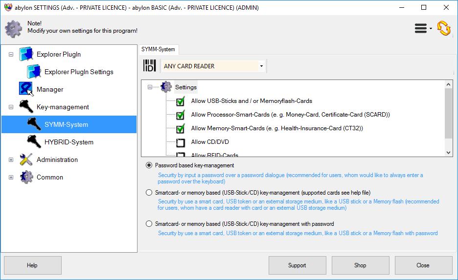 Access Restriction Software, abylon BASIC Screenshot