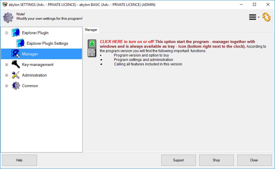 abylon BASIC, Security Software Screenshot