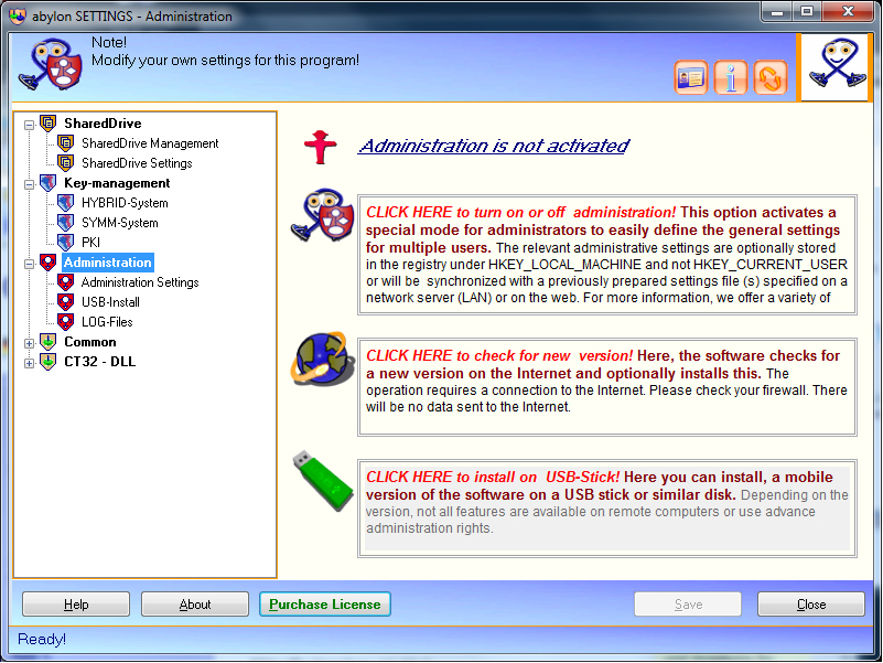 Security Software, abylon SHAREDDRIVE Screenshot