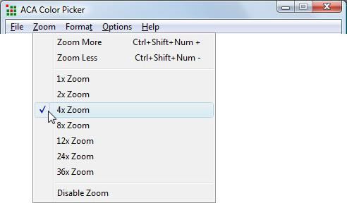 ACA Color Picker, Design, Photo & Graphics Software Screenshot