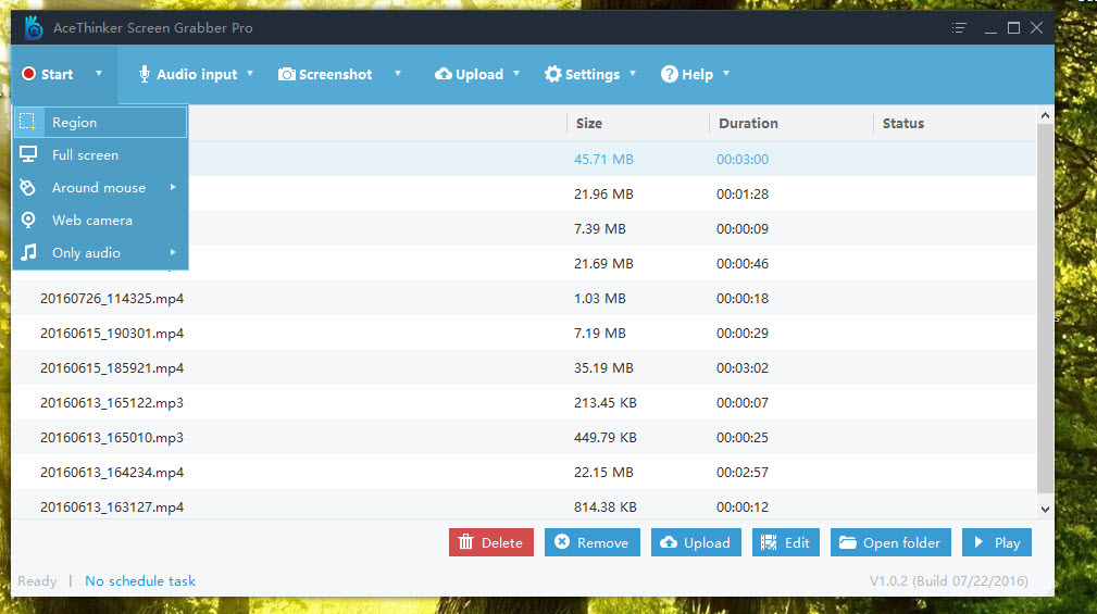 AceThinker Screen Grabber Pro Screenshot