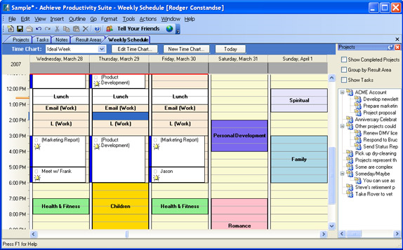 Achieve planner productivity suite pim software for pc for Computer planner software