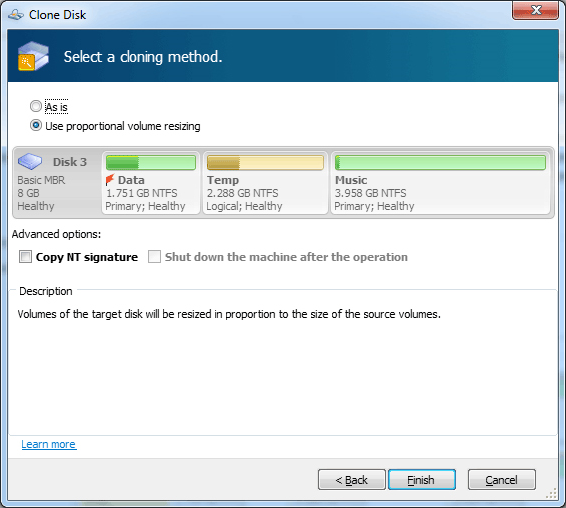 Acronis Disk Director 11 Home Screenshot