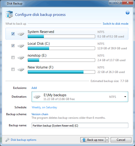 True Image 2013 by Acronis (With Plus Pack Add-on), Backup and Restore Software Screenshot