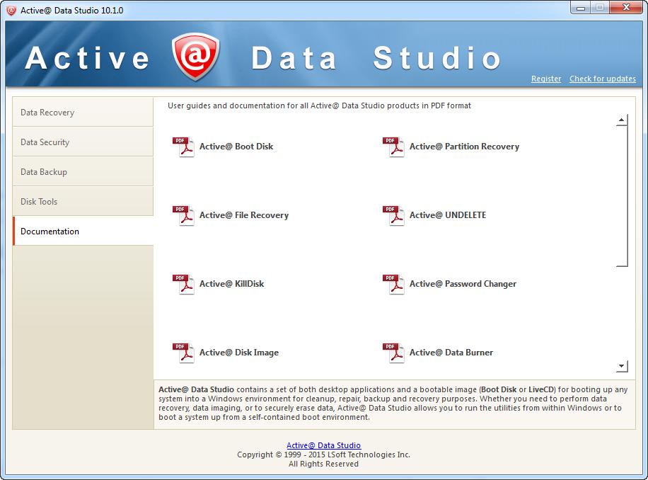 Other Utilities Software, Active@ Data Studio Screenshot