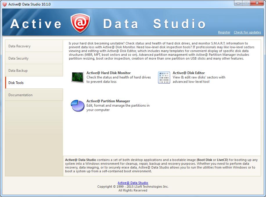 Active@ Data Studio, Software Utilities Screenshot