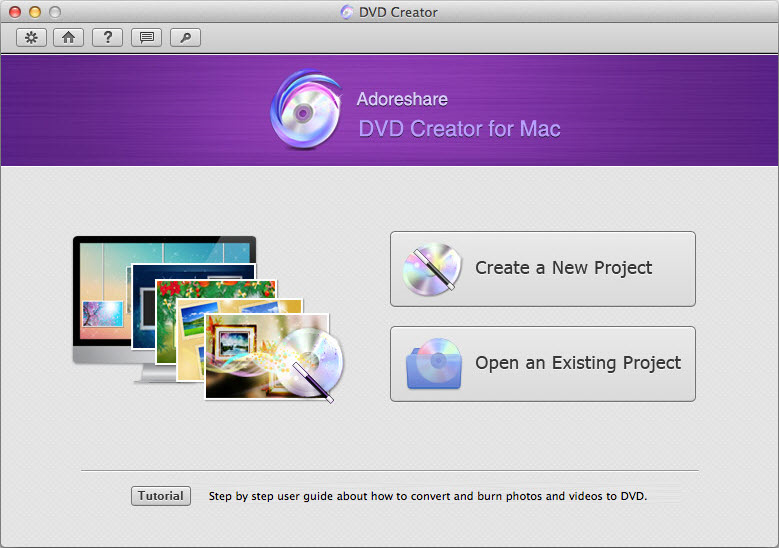 Adoreshare DVD Creator for Mac Screenshot