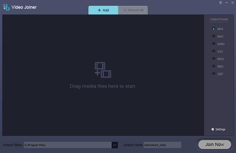 Adoreshare Video Joiner for Mac Screenshot