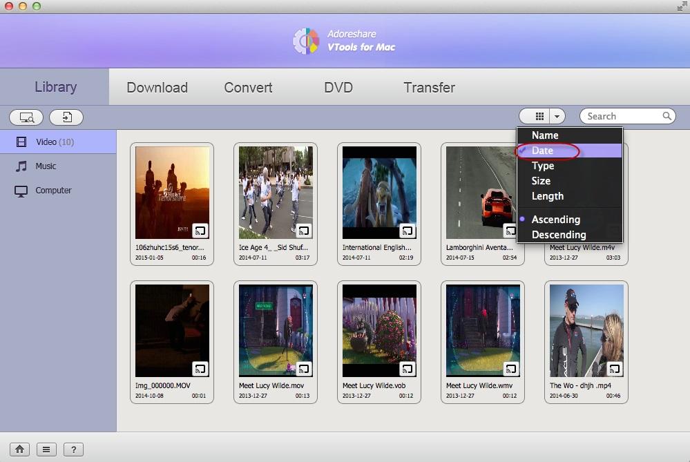 Adoreshare VTools for Mac Screenshot