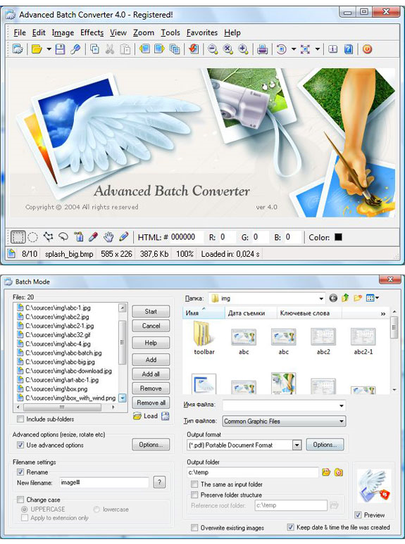 Advanced Batch Converter Screenshot