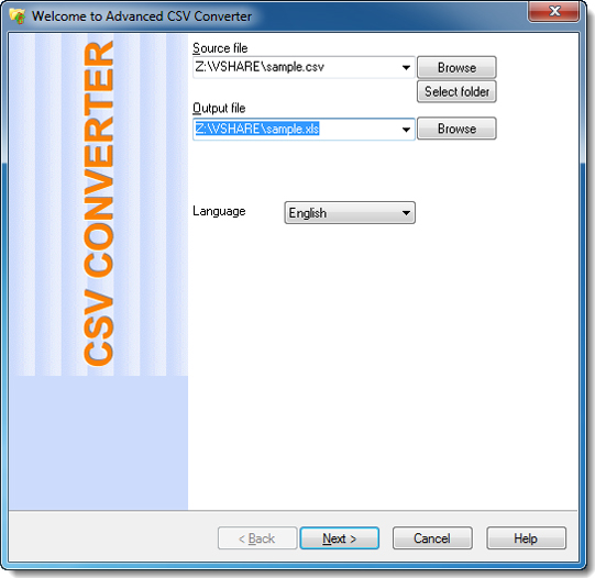 Advanced CSV Converter, Spreadsheet Editors Software Screenshot