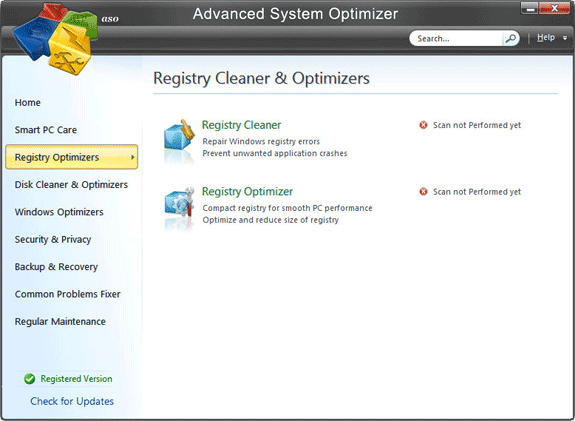 Advanced System Optimizer V3, System Stability Software Screenshot
