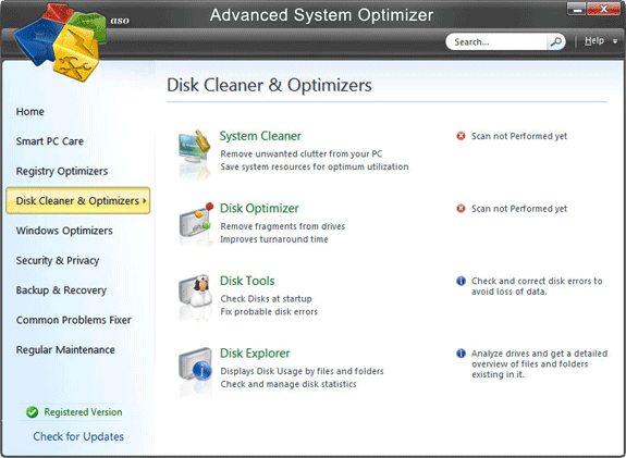 System Stability Software, Advanced System Optimizer V3 Screenshot
