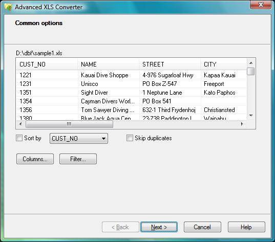 Advanced XLS Converter Screenshot