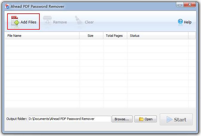 Ahead PDF Password Remover Screenshot