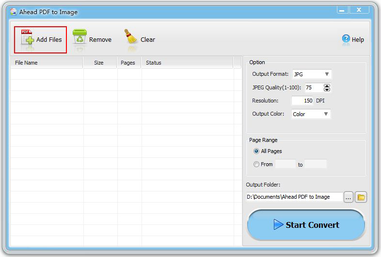 Ahead PDF to Image Converter Screenshot
