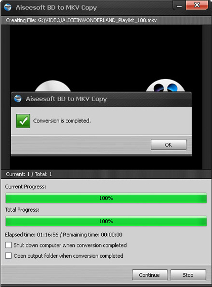 Aiseesoft BD to MKV Copy, Video Converter Software Screenshot