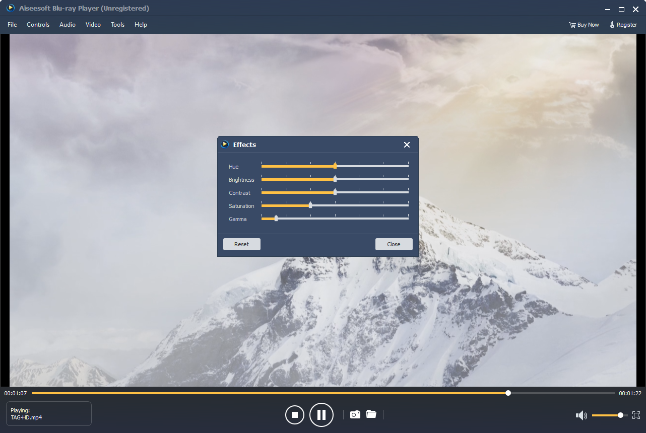Aiseesoft Blu-ray Player, Video Player Software Screenshot