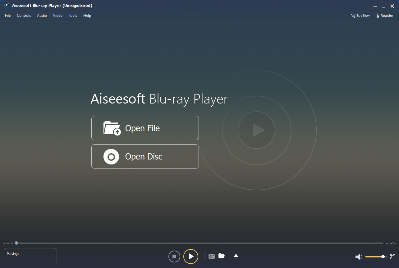 Aiseesoft Blu-ray Player, Video Software Screenshot