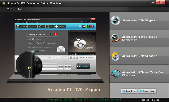 Aiseesoft DVD Converter Suite Platinum Screenshot