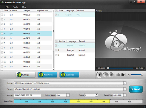 Video Software, Aiseesoft DVD Converter Suite Ultimate Screenshot