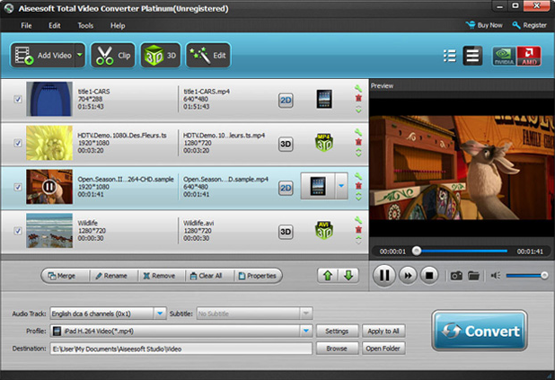 Aiseesoft DVD Converter Suite Ultimate, Video Converter Software Screenshot