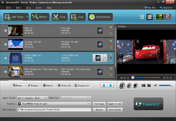 Aiseesoft total video converter video converter software 40 aiseesoft total video converter screenshot stopboris Image collections