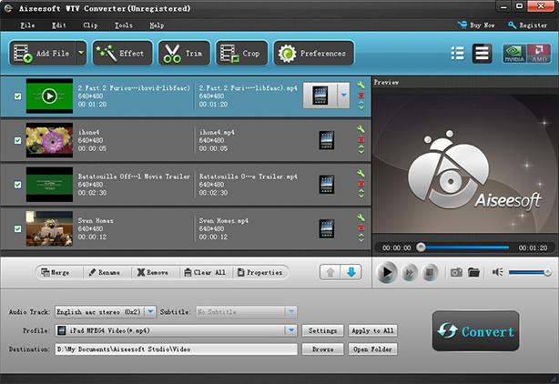 Aiseesoft WTV Converter Screenshot