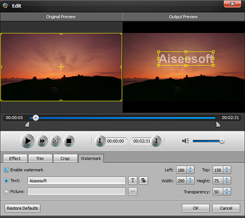 Video Software, Aiseesoft WTV Converter Screenshot