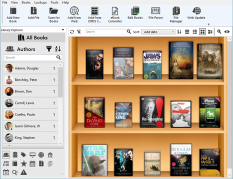 Alfa Ebooks Manager Professional Screenshot