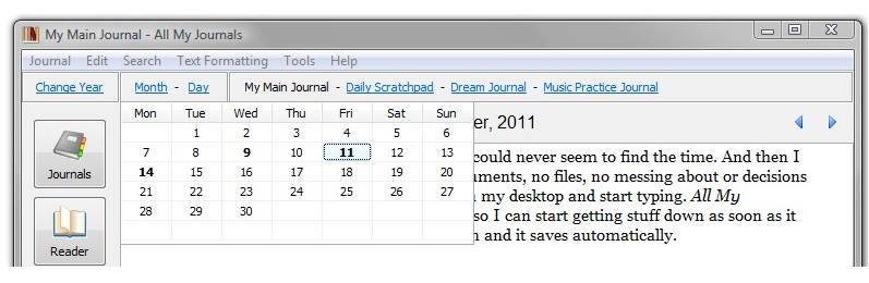 All My Journals Screenshot