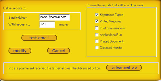 Keylogger Software, All-Spy Keylogger Screenshot