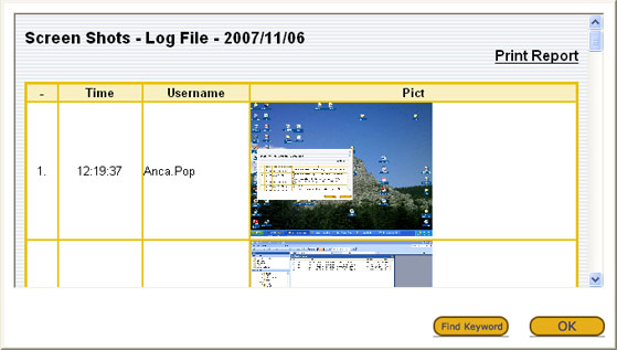 Keylogger Software Screenshot