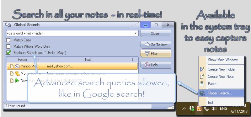 AllMyNotes Organizer, Notes Software Screenshot